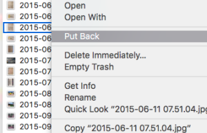 deleted Photos Library on my Mac - Put back