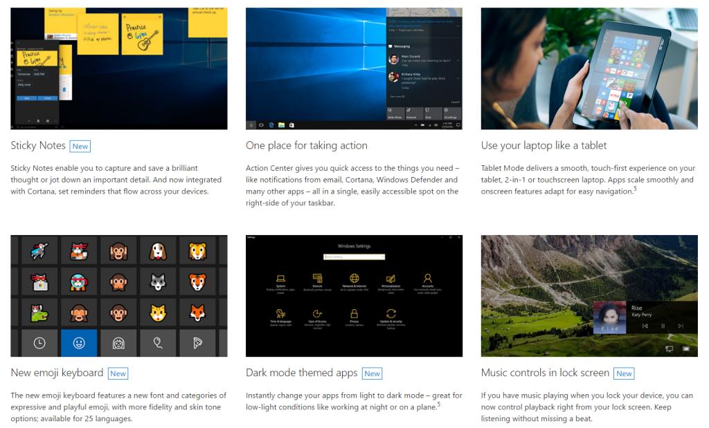 Windows 10 Anniversary Update - Features