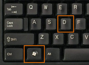 Windows keyboard shortcuts - Win+D